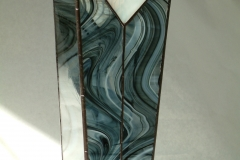Black Swirl Vase