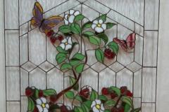 Butterfly on Flower Window