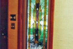 Front Door Sidelight in Frank Lloyd Wright design
