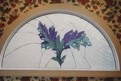 Half round flower design