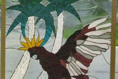 Tropical Bird on tree branch